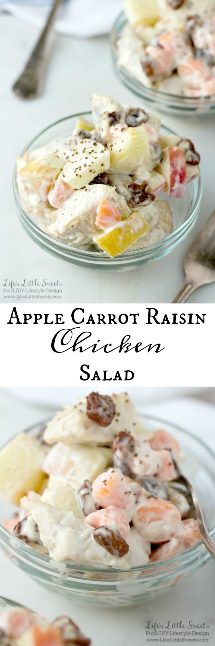 Apple Carrot Raisin Chicken Salad www.LifesLittleSweets.com