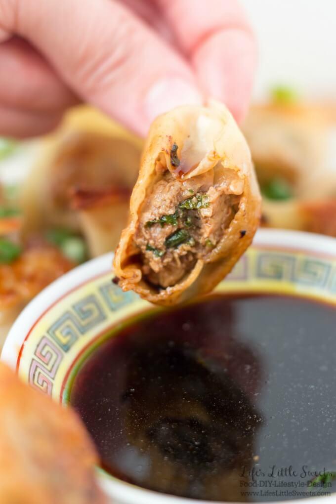 Beef Potsticker Wonton Dumplings Recipe (Steamed or Fried) www.LifesLittleSweets.com