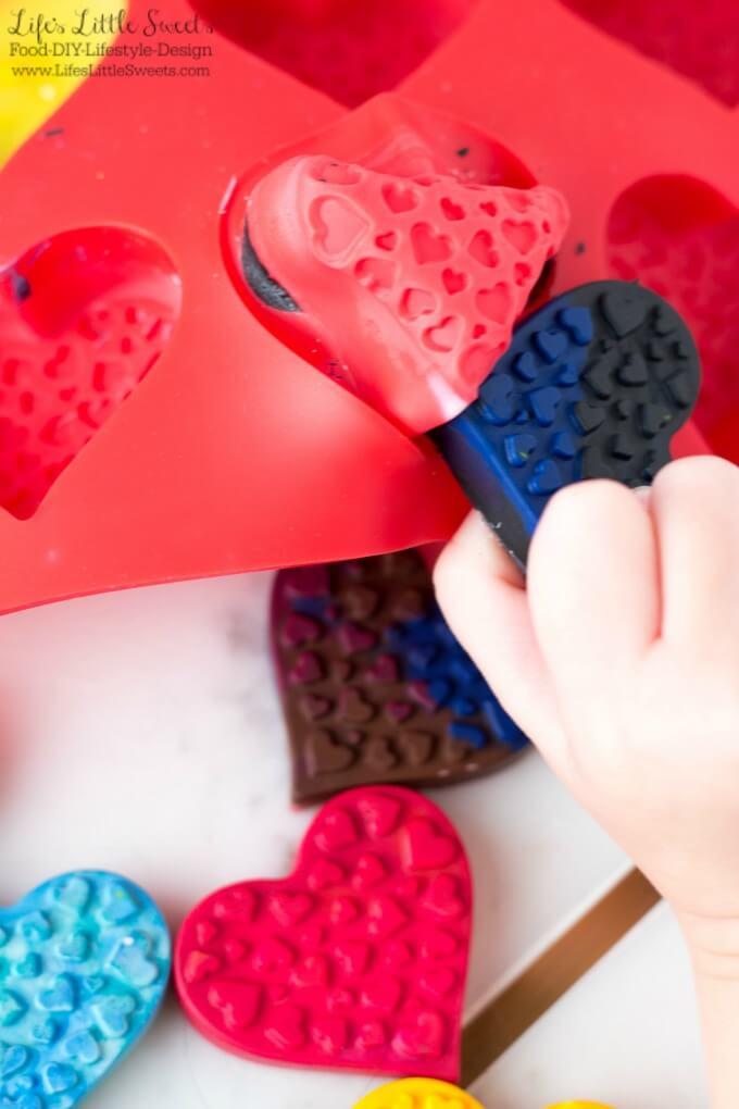 DIY Heart-Shaped Crayons www.LifesLittleSweets.com Sara Maniez
