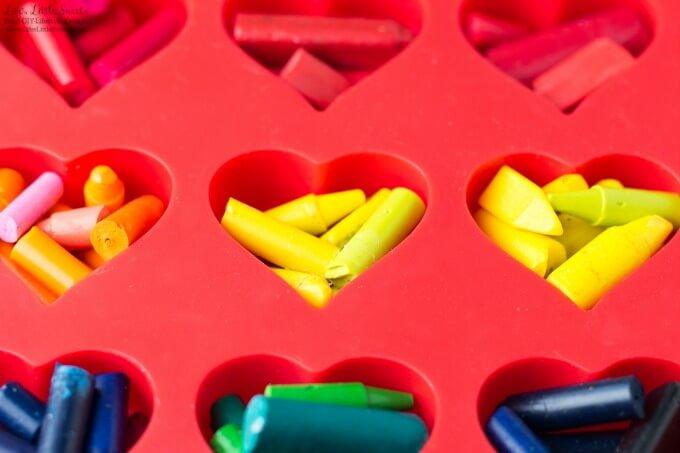 DIY Heart-Shaped Crayons www.LifesLittleSweets.com
