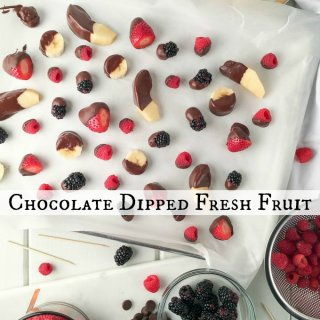 Chocolate Dipped Fresh Fruit on SoFabFood