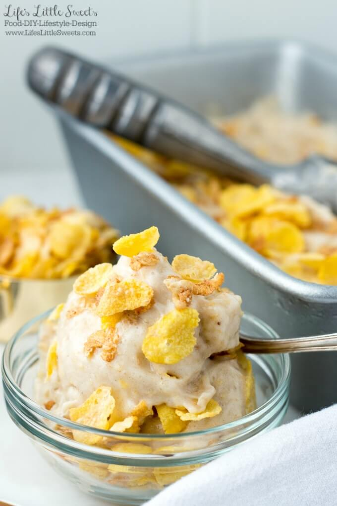 Honey Bunches of Oats Honey Roasted Banana Ice Cream has only 2 ingredients, is SO easy to make and makes having dessert for breakfast entirely possible! (dairy-free, vegan) #ad #SpoonfulsOfGoodness #CerealAnytime #CollectiveBias