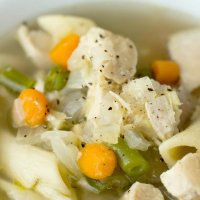 Soothing Ginger Garlic Chicken Noodle Soup