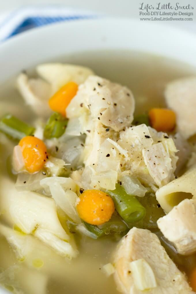 Soothing Ginger Garlic Chicken Noodle Soup is your nourishing and healthful friend when you are nursing a cold or just want a bowl of warm goodness for your tummy.