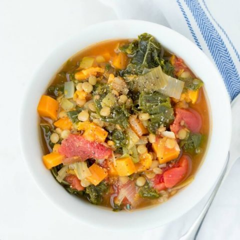 Sweet Potato Kale Lentil Soup