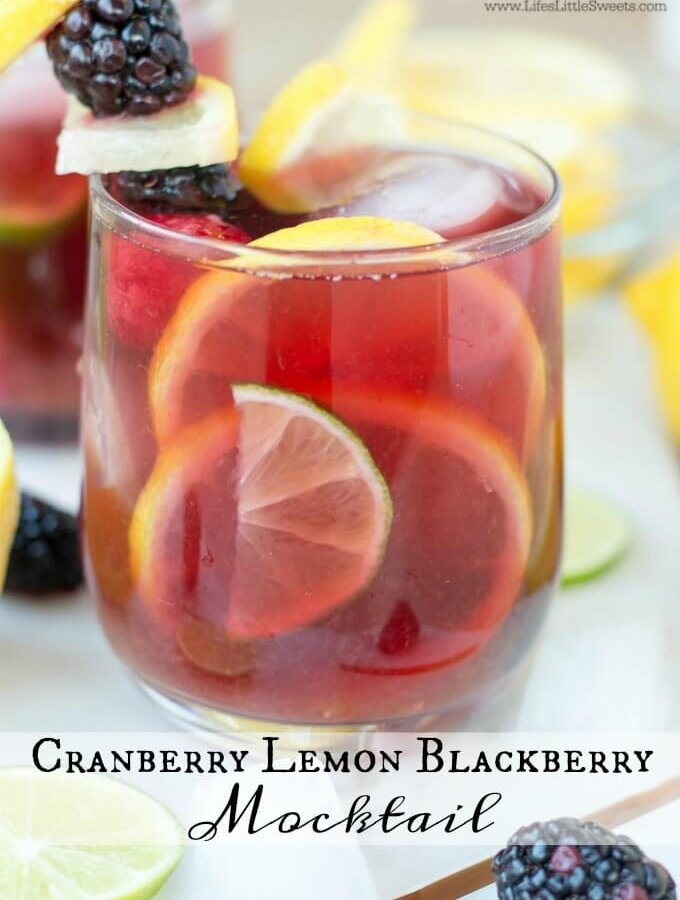Cranberry Lemon Blackberry Mocktail