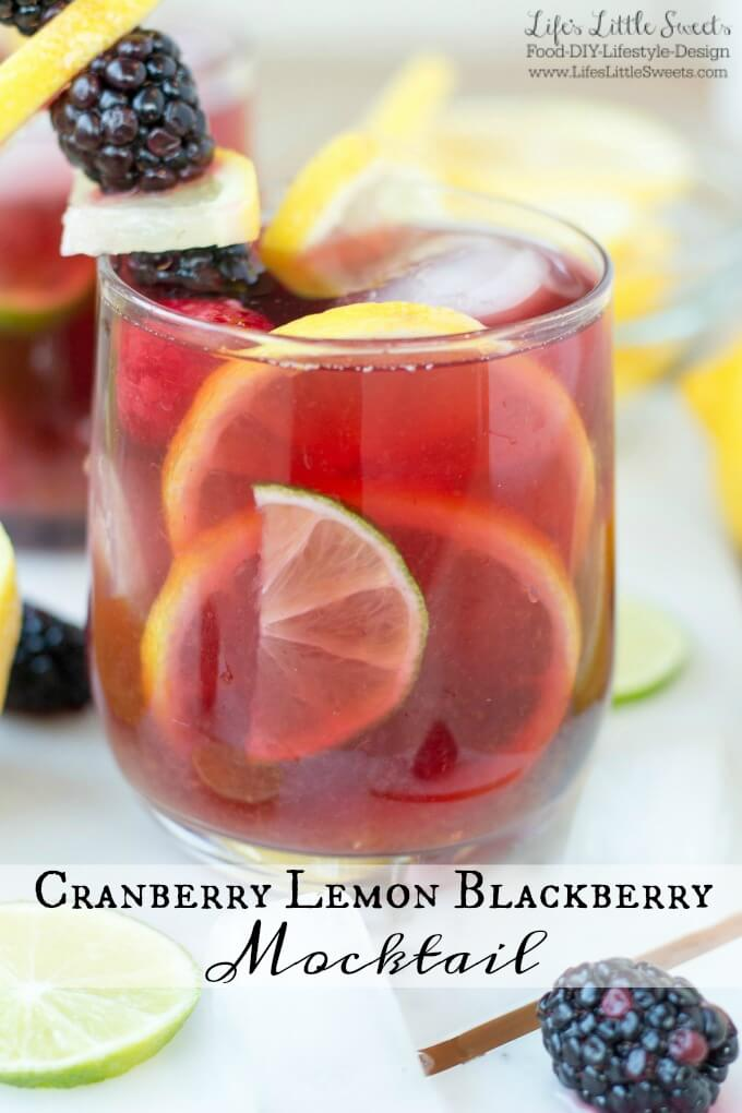 Cranberry Lemon Blackberry Mocktail for SoFabFood