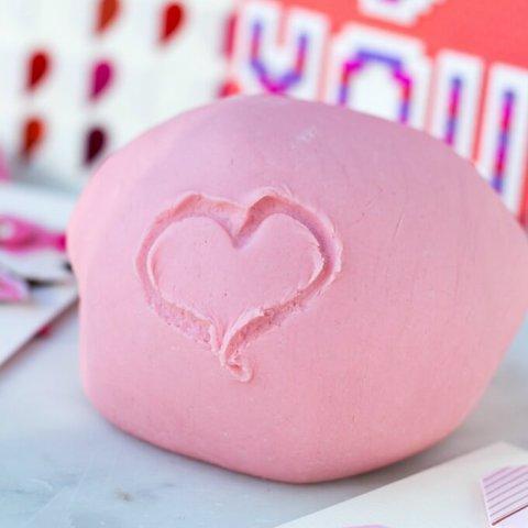 DIY Valentine's Day Playdough Recipe www.LifesLittleSweets.com