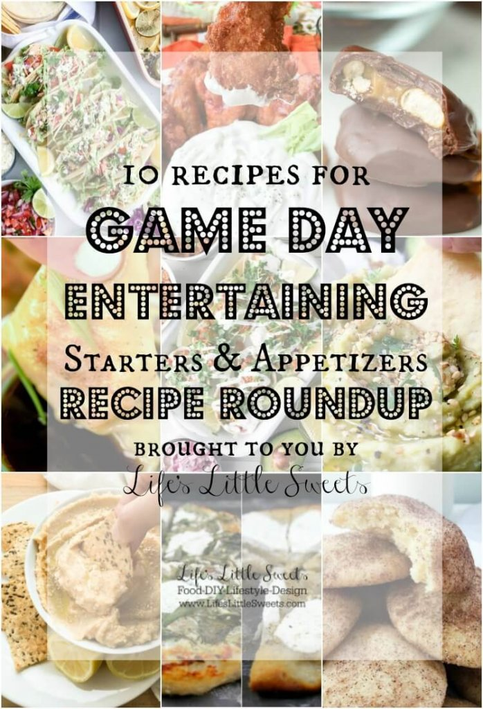 This Game Day Entertaining Starters and Appetizers Recipe Roundup will have you covered for game day entertaining with 10 delicious recipes. We have from Nutella Muddy Buddies to Blue Cheese Dipping Sauce to Salmon Tacos with Fresh Salsa and Avocado Sauce!