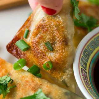 Vegetable Potsticker Dumplings (Steamed or Fried)