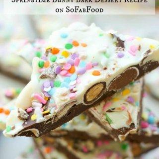 Springtime Bunny Bark Dessert Recipe on SoFabFood