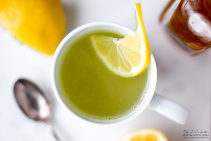 This Lemon Water With Honey recipe is perfect for having in the morning, in place or tea or coffee. Being both sweet and refreshing, it's a warm, soothing drink when you need it. (refined sugar free, vegan option using agave nectar)