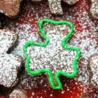 St. Patrick's Day Shamrock Shaped Brownies