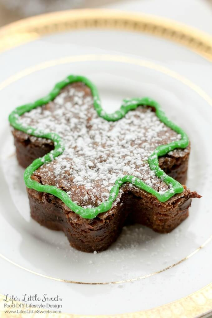 St. Patrick's Day Shamrock Shaped Brownies are the perfect dessert for your St. Patrick's Day celebration! Enjoy these delightful & decadent chocolate brownies can be served decorated or just as they are.