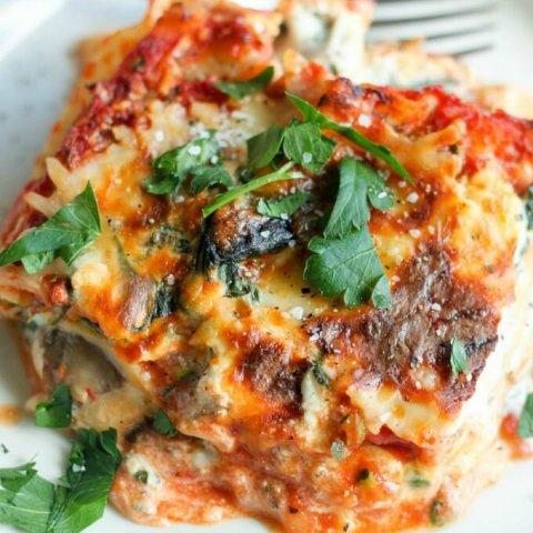 Vegetarian Lasagna www.LifesLittleSweets.com