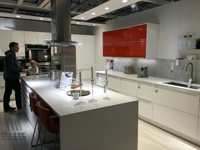 High-gloss Kitchen | Kitchen Renovation IKEA Kitchen Inspiration - Our family recently took a trip to IKEA to check out their kitchens and get inspiration for our own ongoing kitchen renovation.