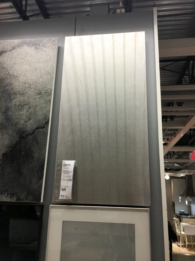Stainless steel cabinet surface | Kitchen Renovation IKEA Kitchen Inspiration - Our family recently took a trip to IKEA to check out their kitchens and get inspiration for our own ongoing kitchen renovation.