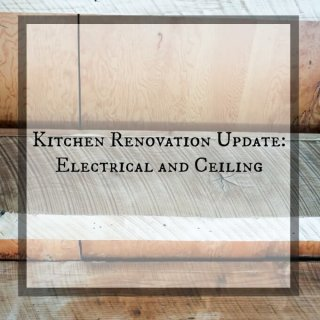 Kitchen Renovation Update Electrical and Ceiling