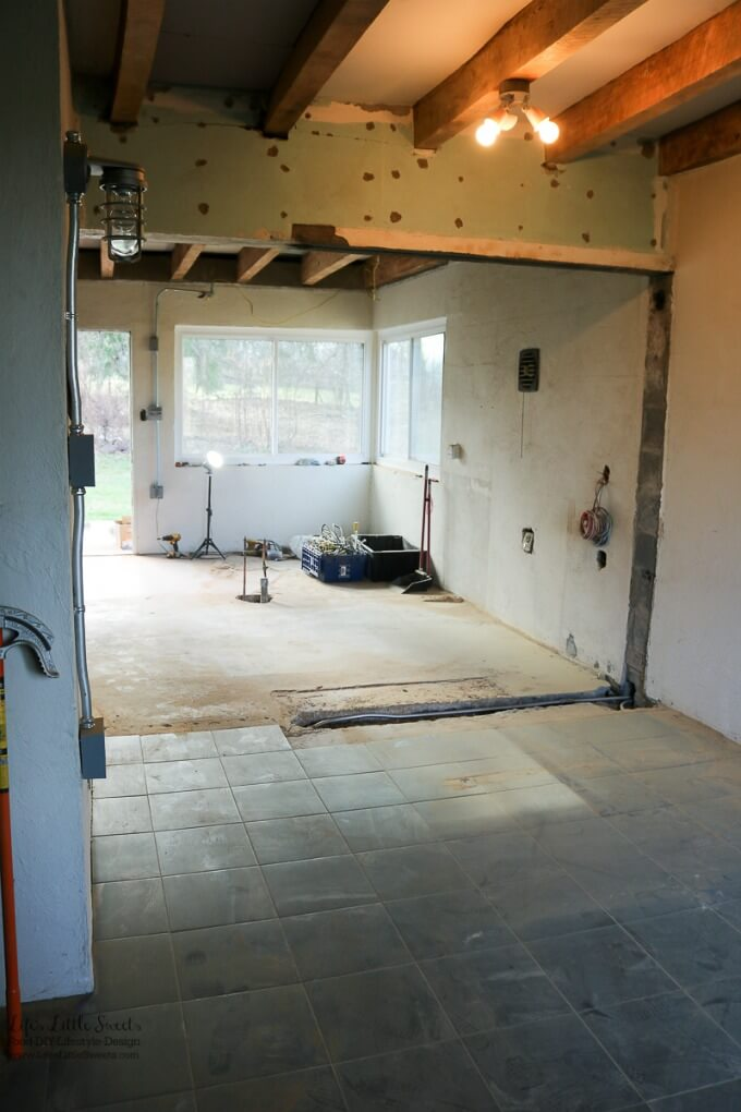 Kitchen Renovation Update Electrical and Ceiling - Check out what's going on in the Life's Little Sweets home kitchen renovation!