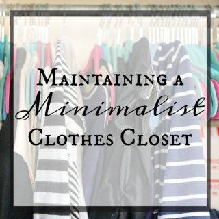 Maintaining A Minimalist Clothes Closet