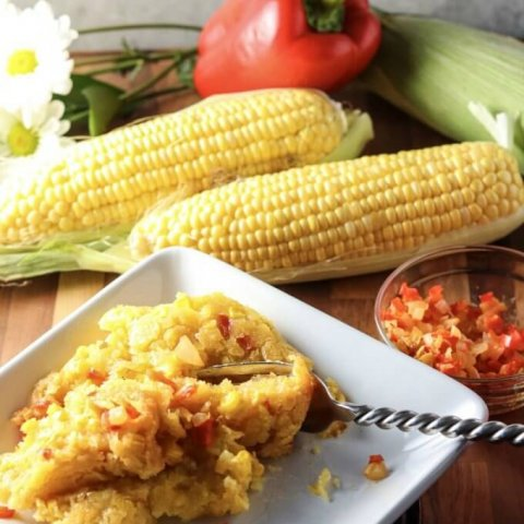 Corn Soufflé Recipe www.lifeslittlesweets.com Heather Buentello Dredge and Drizzle