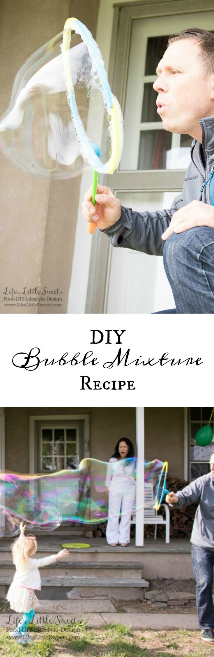 Diy bubble mixture recipe dawn dish soap light corn for How to make bubbles liquid at home