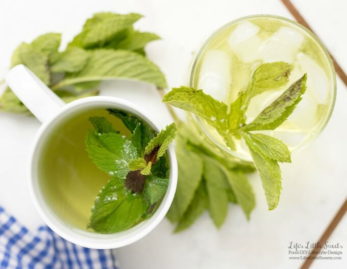 #Ad - Only 5 minutes to make! | This Fresh Mint Tea recipe is light, so easy to prepare and delicious to enjoy. All you need is fresh mint leaves, boiling water and a few minutes and then you can be some Fresh Mint Tea! Enjoy hot or cold. #ForWhatMattersMost #CollectiveBias @Target @TYLENOL www.lifeslittlesweets.com #freshmint #tea #recipe #hottea #mint #minttea #icedtea