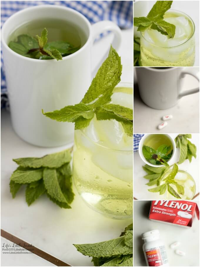 #Ad - Enjoy! | This Fresh Mint Tea recipe is light, so easy to prepare and delicious to enjoy. All you need is fresh mint leaves, boiling water and a few minutes and then you can be some Fresh Mint Tea! Enjoy hot or cold. #ForWhatMattersMost #CollectiveBias @target @TYLENOL www.lifeslittlesweets.com #freshmint #tea #recipe #hottea #mint #minttea #icedtea