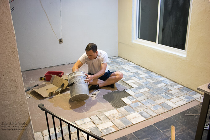 Eric Starts Out Strong With Tiling The Kitchen Floor | Kitchen Renovation  New Tile
