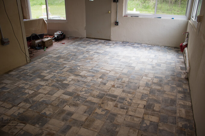 Kitchen Renovation New Tile Floor Electrical Update