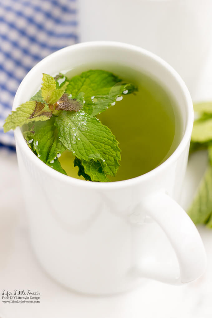 #Ad - Enjoy hot | This Fresh Mint Tea recipe is light, so easy to prepare and delicious to enjoy. All you need is fresh mint leaves, boiling water and a few minutes and then you can be some Fresh Mint Tea! Enjoy hot or cold. #ForWhatMattersMost #CollectiveBias @target @TYLENOL www.lifeslittlesweets.com #freshmint #tea #recipe #hottea #mint #minttea #icedtea