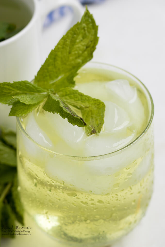 #Ad - Enjoy iced   This Fresh Mint Tea recipe is light, so easy to prepare and delicious to enjoy. All you need is fresh mint leaves, boiling water and a few minutes and then you can be some Fresh Mint Tea! Enjoy hot or cold. #ForWhatMattersMost #CollectiveBias @target @TYLENOL www.lifeslittlesweets.com #freshmint #tea #recipe #hottea #mint #minttea #icedtea