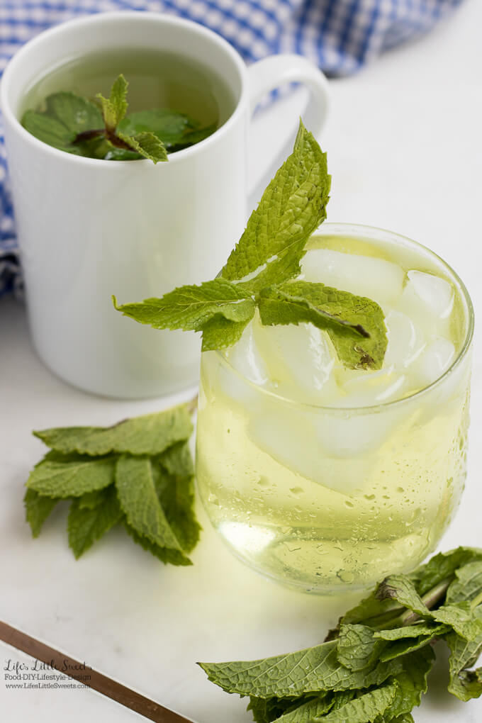 Fresh Mint Tea recipe www.lifeslittlesweets.com