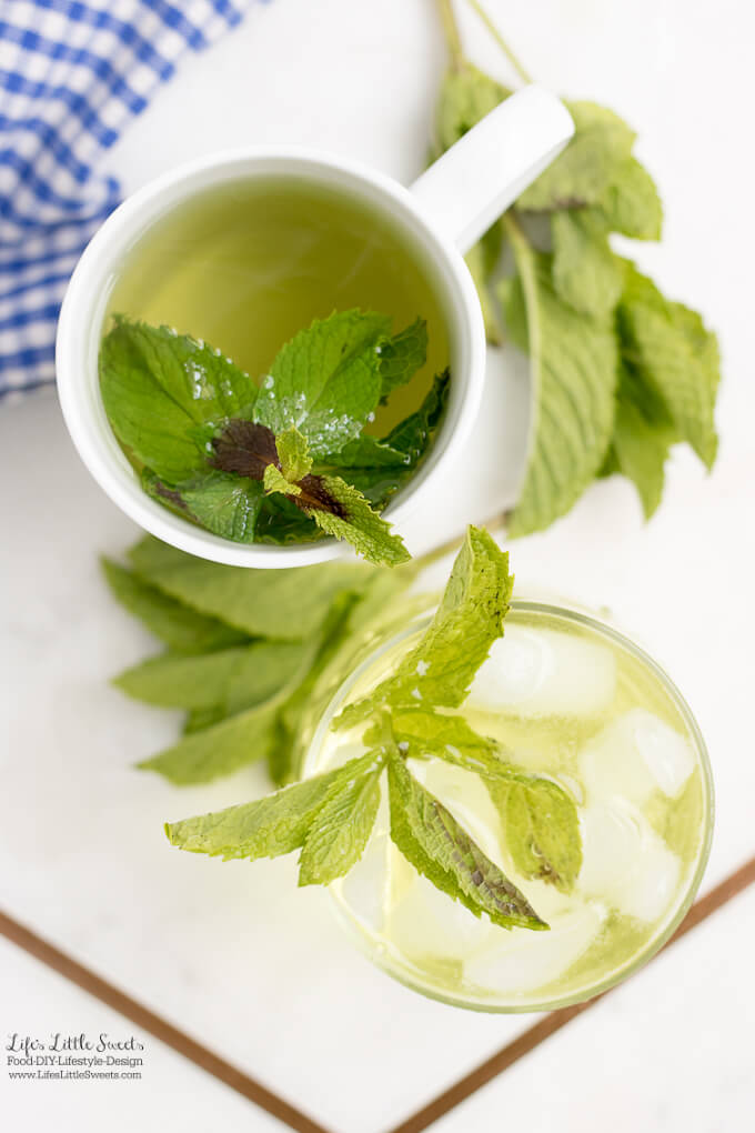 #Ad - Lovely Tea | This Fresh Mint Tea recipe is light, so easy to prepare and delicious to enjoy. All you need is fresh mint leaves, boiling water and a few minutes and then you can be some Fresh Mint Tea! Enjoy hot or cold. #ForWhatMattersMost #CollectiveBias @target @TYLENOL www.lifeslittlesweets.com #freshmint #tea #recipe #hottea #mint #minttea #icedtea
