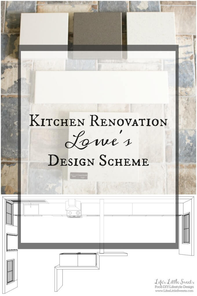 Kitchen Renovation Lowe's Design Scheme www.LifesLittleSweets.com