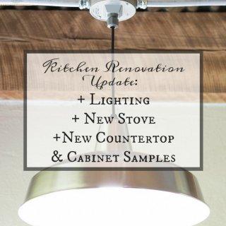 Kitchen Renovation Update Lighting New Stove Countertop Samples