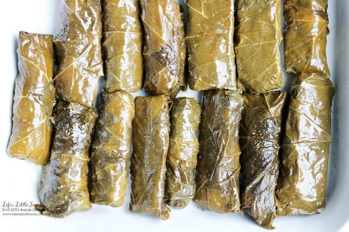 Ready to eat | This Stuffed Grape Leaves Recipe is perfect for Spring and Summer; enjoy them at picnics, a party or a family gathering. They are stuffed with cooked rice, dill, mint with fresh squeezed lemon juice and then wrapped in delicious grape leaves. (serve hot or cold, meat and vegan option)