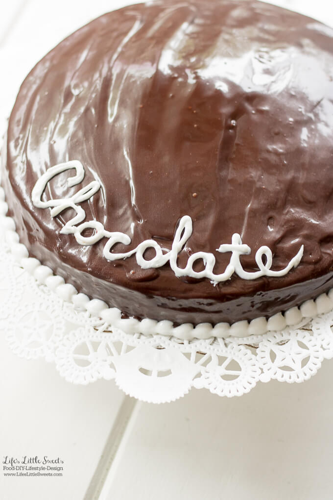 Single Layer Chocolate Ganache Cake Recipe