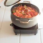 Franks and Peppers Stew Recipe www.lifeslittlesweets.com
