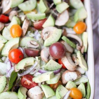 Avocado Garden Salad Recipe
