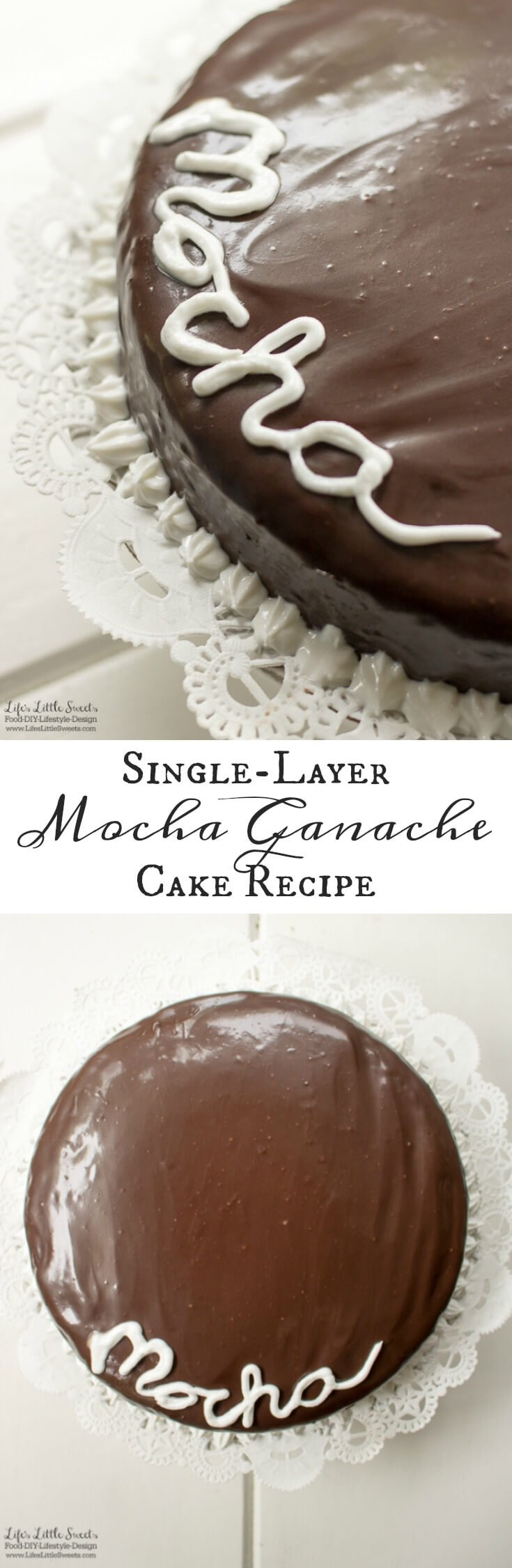 This Single-Layer Mocha Ganache Cake Recipe is a from scratch cake recipe that is easy to make. Topped with creamy and smooth mocha ganache, this mocha cake recipe is perfect for any occasion (12 slices).