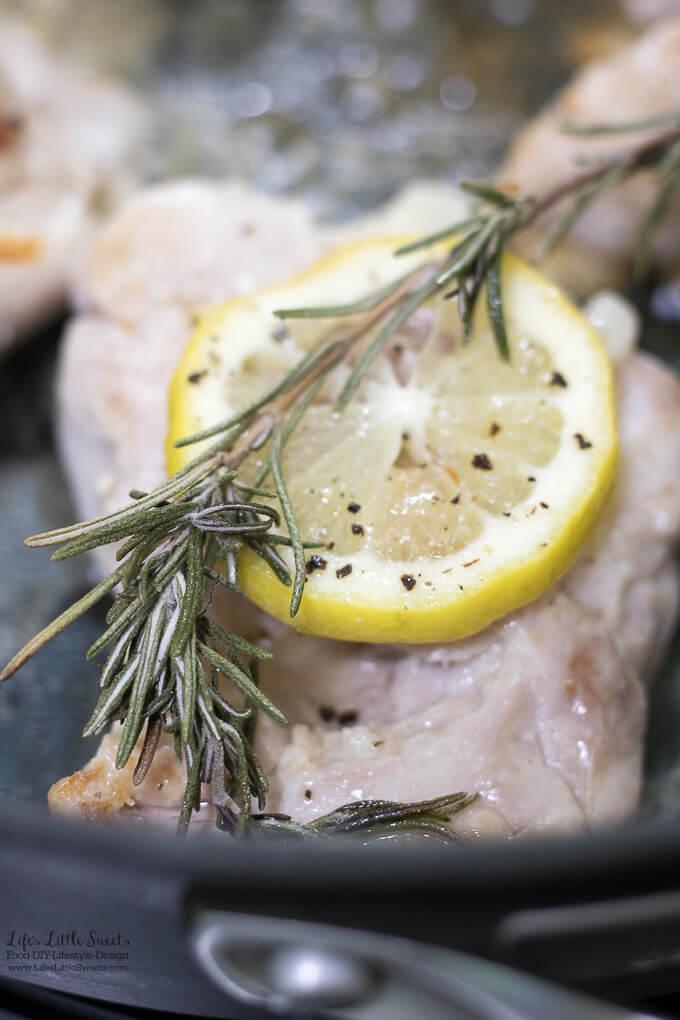 Lemon Rosemary Skillet Chicken Thighs