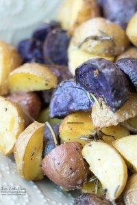 Roasted Rosemary Potatoes www.lifeslittlesweets.com