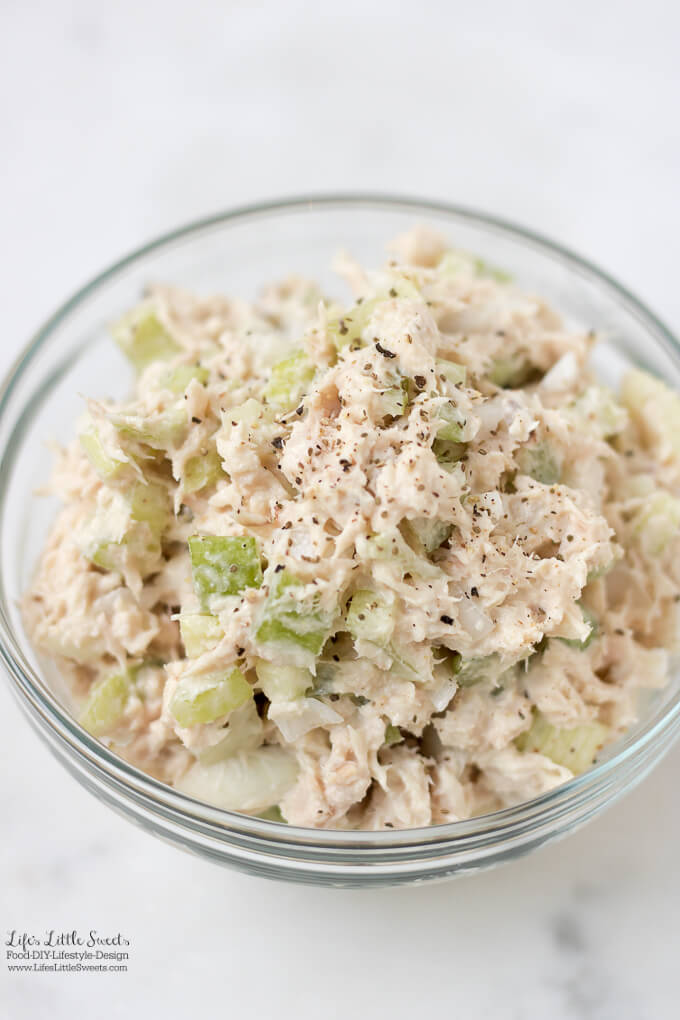This Tuna Salad Recipe is an easy, basic salad recipe, perfect for Summer or any time of year. Whip it up for a quick bite to eat or make it for your next gathering! (gluten-free)