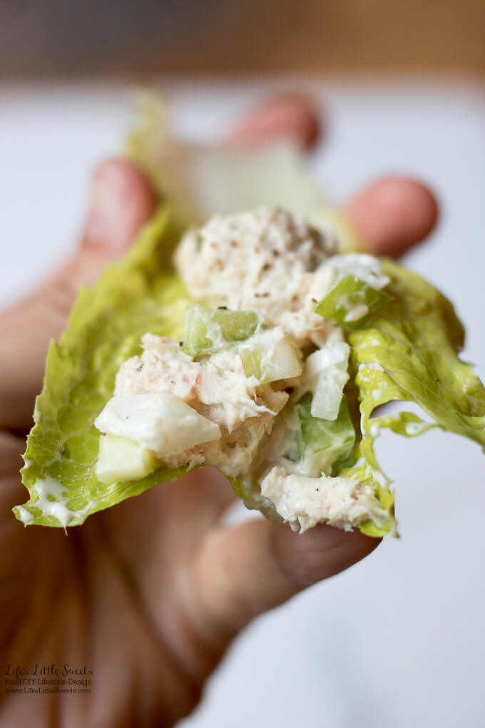 This Tuna Salad Lettuce Wraps recipe has Romaine lettuce and my basic, Tuna Salad Recipe! (gluten-free)