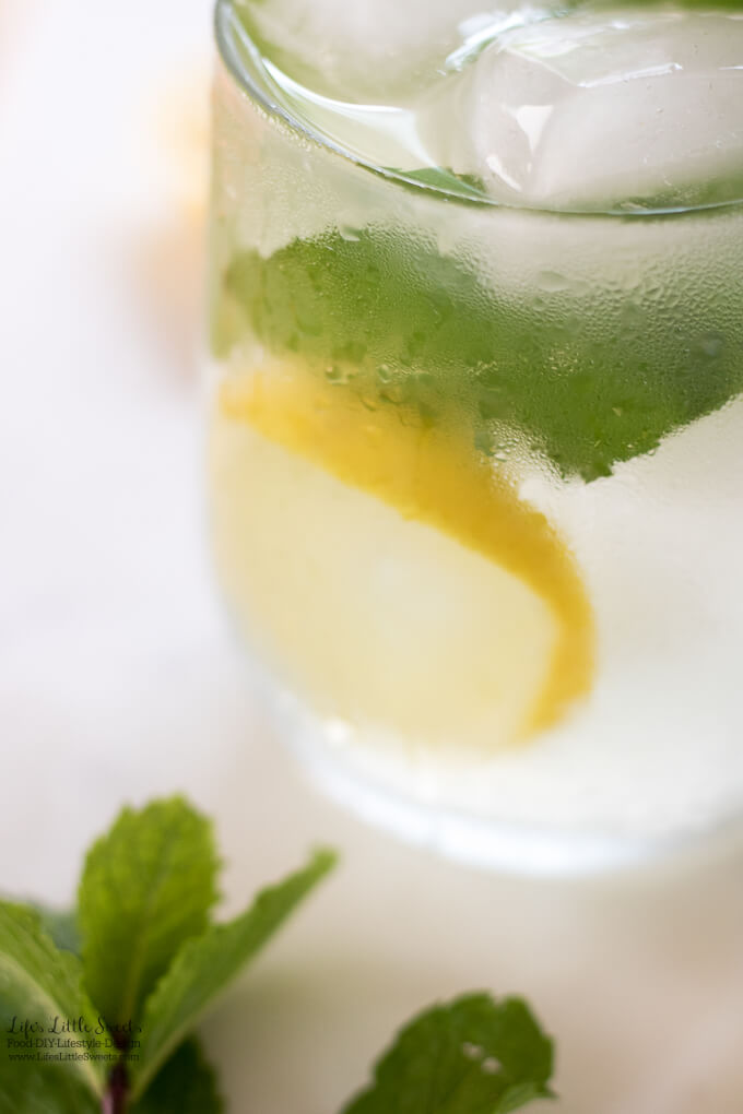 Mint Lemonade is a refreshing, sweet drink recipe to cool your Summer days. (gluten-free, vegan)