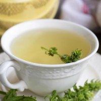 Fresh Basil Flower Tea