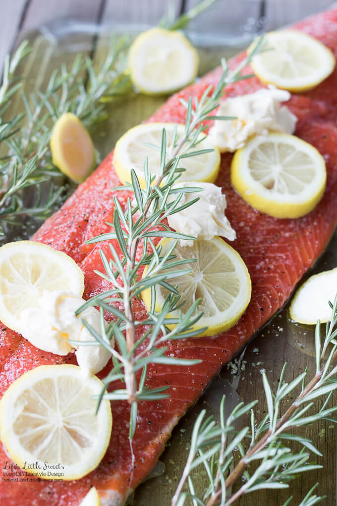 Lemon Rosemary Salmon is a bright, simple, savory and delicious Salmon recipe. (serves 4-6)