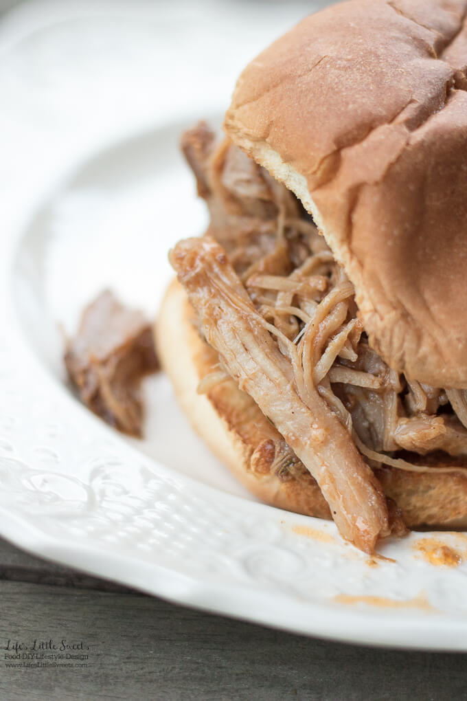 Slow Cooker Texas Style Pulled Pork makes a delicious and savory dinner using pork shoulder with a blend of spices and condiments. (serves a crowd!)