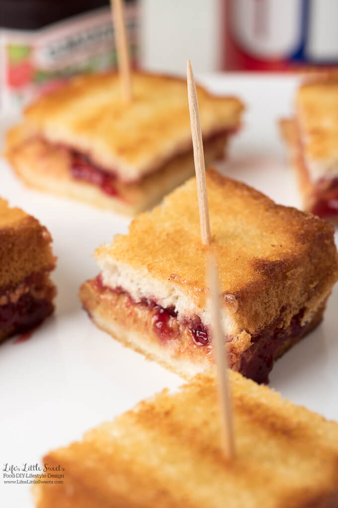 These Grilled Peanut Butter and Jelly Sandwich Bites are a new twist on a classic snack - the perfect snack for after school! (6 minutes, serves 1) #ad #PerfectLunchbox #CollectiveBias